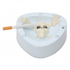 Scary Coughing & Screaming Ashtray - White (2 x AA)