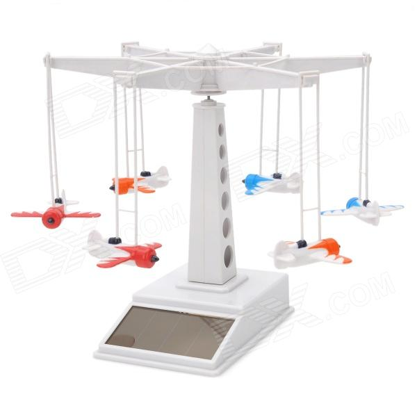 Solar powered flying plane tower toy set - white + red +...