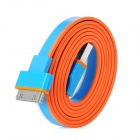 Flache 30-Pin Laden / Datenübertragungskabel für iPad / iPod / iPhone - Blau + Orange (100cm)