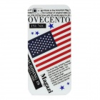 American Flag Poster Stil Protective PC zurück Fall für iPhone 5 - White + Red + Black