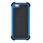 Protective Two-Layer Detachable Plastic + Silicone Back Case - Blue + Black