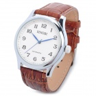 SINOBI 5135 Fashion Genuine Leather Band Mechanical Analog Water Resistant Armbanduhr - Brown