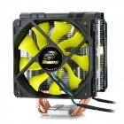 Akasa AK-CC4008HP01 Dual CPU Cooler Fan w/ Cooling Fin / PWM Adapter - Silver + Black