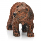 Decorative Cute Clumsy Resin Bear Toy - Brown