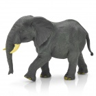 Decorative Hardworking Resin Elephant Toy - Grey + Yellow
