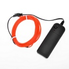 EL-3M Folding Bending 3-Mode Neon Light Cable w/ Battery Case - Red (3m / 2 x AA)