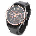 CURREN 8066 Fashion Rubber Band Quartz Analog Waterproof Wrist Watch - Black (1 x LR626)