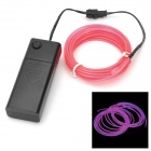 EL-3M Folding Bending 3-Mode Neon Light Cable w/ Battery Case - Pink (3m / 2 x AA)