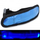 Fashion 1-LED Blue Light Woven Fabric + Soft Rubber Shoulder Strap - Blue (2 x CR2032)