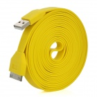 USB bis 30-Pin Charging & Data Transmission Flachbandkabel für iPhone / iPad / iPod - Gelb (300cm)