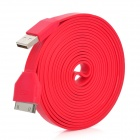 USB bis 30-Pin Charging & Data Transmission Flachbandkabel für iPhone / iPad / iPod - Rot (300cm)