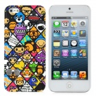 Cute Cartoon Pattern Protective PC Hard zurück Fall für iPhone 5 - Multi-Colored