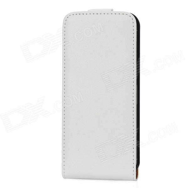 A&amp;T A&amp;T-016 Protective Flip Open Genuine Leather Case w/ Card Slot for Iphone 5 - White - DXLeather Cases<br>Brand A&amp;amp;T Model A&amp;amp;T-016 Quantity 1 Piece Color White + black Material Genuine Leather + plastic Compatible Models IPhone 5 Other Features Made of durable genuine leather to prevent scratches dirt and bumps as well as being shock-proof ; Easy to install and unload; Easy access to all vital ports controls and buttons Packing List 1 x Protective case<br>