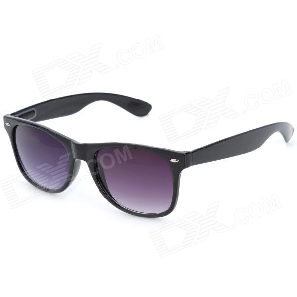 Fashion PC Lens Cellulose Acetate Frame Eye Protection Sunglasses Goggles - Black