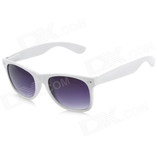 Fashion PC Lens Cellulose Acetate Frame Eye Protection Sunglasses Goggles - White