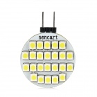 SENCART G4 1.5W 120lm 24-SMD 3528 LED White Light Car License Plate / Reading / Roof Lamp (12V)
