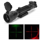 Tactical 2-7x32AOE Illuminated Red / Green Crosshair Tri Weaver Rail Sight Scope (1 x CR2032)