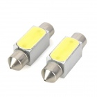 Festoon 36mm 2W 200lm LED White Light Car Reading Lamp (2 PCS / 12V)