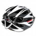 MOON BH-27 Outdoor Sports PC + EPS Bike Bicycle Helmet - White + Black