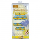 DH 10458 Plastic Rolling Wheel Foot Massager - Yellow + Blue + White