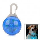 Safety 3-Mode Blue Flashing LED Clip-On Pet Collar Pendant Light - Blue (2 x CR2016)