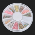 Nail Art / Cell Phone Decoration Polymer Clay 12-in-1 Dessert Style Applique Patches Set