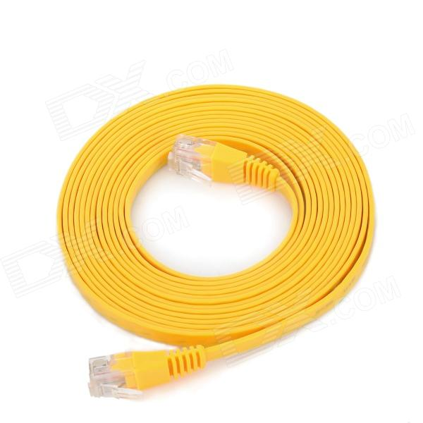 RJ45 Male to Male Network Flat Cable - Yellow (3m) rj45 8p8c male to male high speed cat6a flat lan network cable purple 1485cm