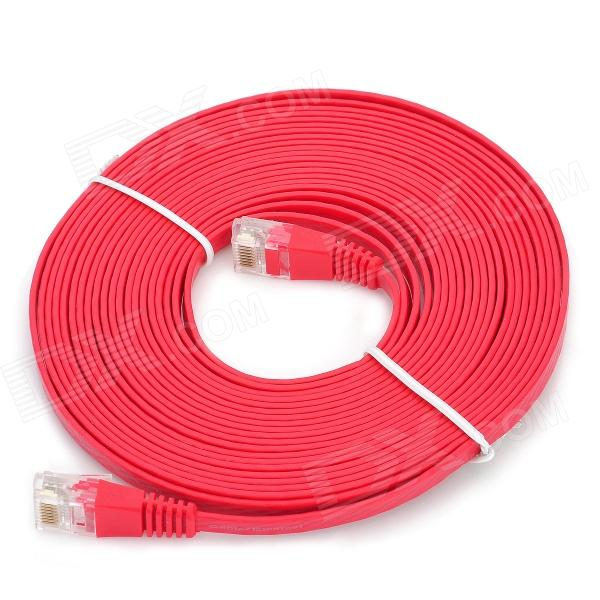 RJ45 Male to Male Network Flat Cable - Red (5m)