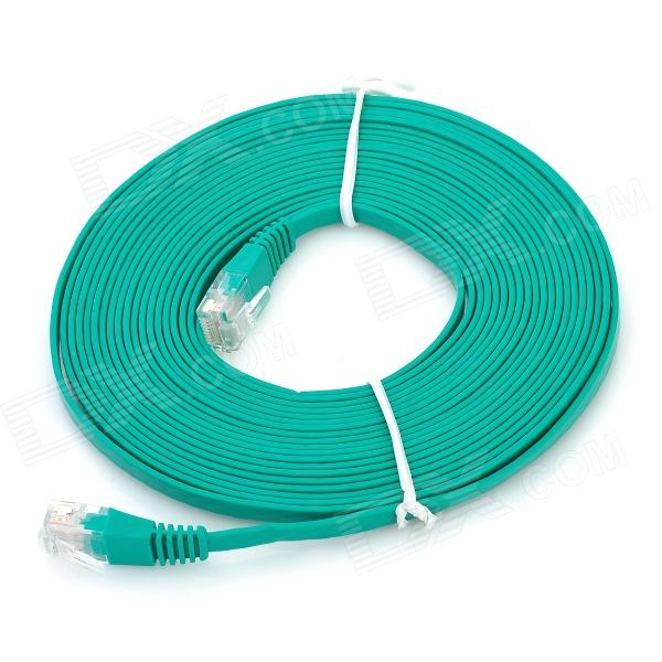 RJ45 Male to Male Network Flat Cable - Green (5m)
