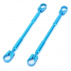Motorcycle DIY Aluminum Alloy Handle Cross Bar - Blue (2 PCS)