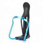 Motorcycle Bike Aluminum + PVC Water Bottle Holder Cage - Blue + Black