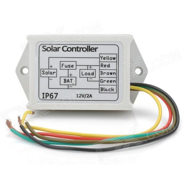 DIY 12V 2A Water Resistant Solar Controller - White