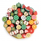 Fruit Style 50-in-1 Polymer Clay Decoration Strips Set - Multicolored