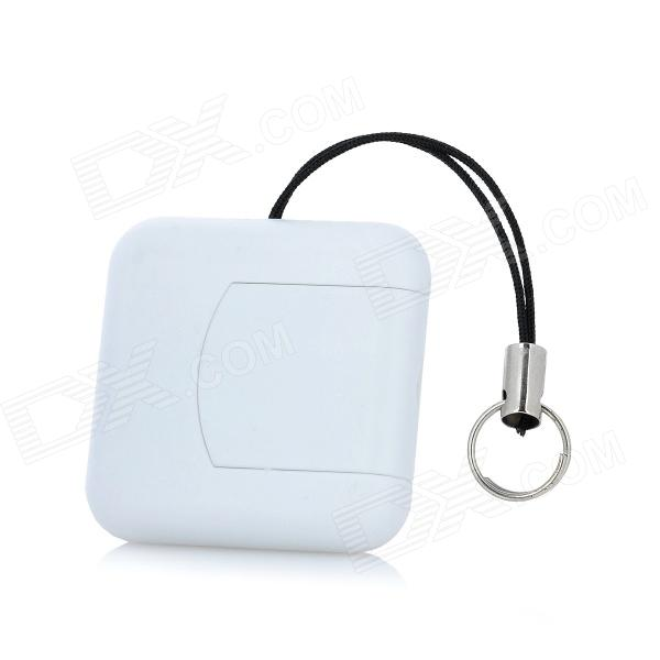 Square Style 360 Degrees Rotation USB 2.0 Card Reader - White