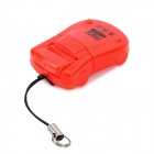 Mini Car Shape USB 2.0 Micro SD/TF Card Reader - Red
