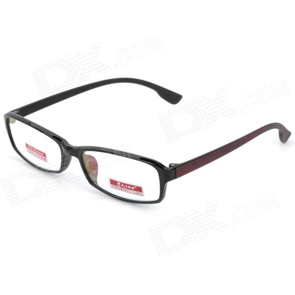 Old Man 100 620 Ultra-Light 200 Degrees Resin Lens TR90 Frame Reading Glasses - Black old man 100 619 retro 250 degrees resin lens pc frame reading glasses black