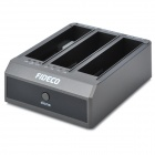 "FIDECO YPZ08 Three-Port HDD Docking Station for 2.5"" / 3.5"" IDE + SATA HDD - Black (3TB)"