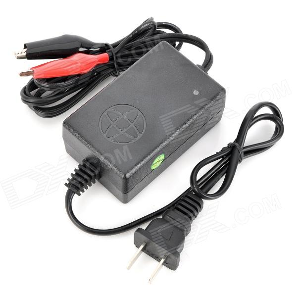 AC Power Charger Adapter for Motorcycle Battery - Black