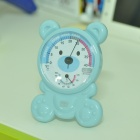 Cartoon Bear Style Kid's Room Indoor Thermometer / Humiditymeter - Blue