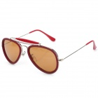 OREKA 3428 Fashion Resin Lens Nickel Alloy + PC Frame Sunglasses Goggles - Red