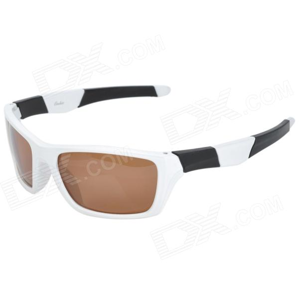 OREKA WG007 Outdoor Riding PC Lens TR90 Frame Sunglasses Goggles - White