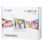 "Gadmei PF8082 8"" TFT LCD Screen Digital Photo Frame w/ SD Slot - White"
