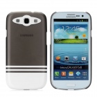 Protective ABS Plastic Case for Samsung i9300 Galaxy S3 - White + Translucent Black