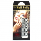 QL-T-15 Nail Art Sticker - Black + White