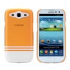 Protective ABS Back Case for Samsung i9300 Galaxy S3 - Translucent Orange + White
