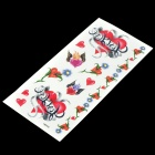Heart Pattern Tattoo Paper Sticker - Red