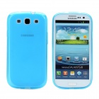 Protective Soft TPU Case w / Screen Protector für Samsung i9300 Galaxy S3 - Light Blue