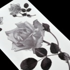 Patrón de Rose Tattoo Paper Sticker - Negro + Blanco