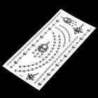 Chain Pattern Tattoo Paper Sticker - Black