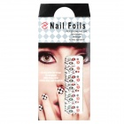 Colorful Leaf Style Nail Art Sticker - Deep Pink + Green